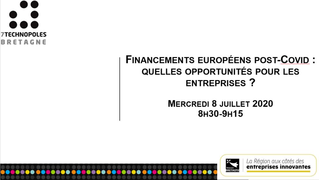 [REPLAY+SUPPORTS] Webinaire : les financements européens post-covid : quelles opportunités pour les entreprises?