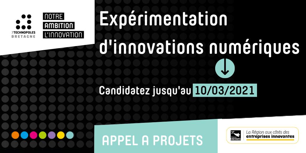 AAP expérimentation d'innovations numériques